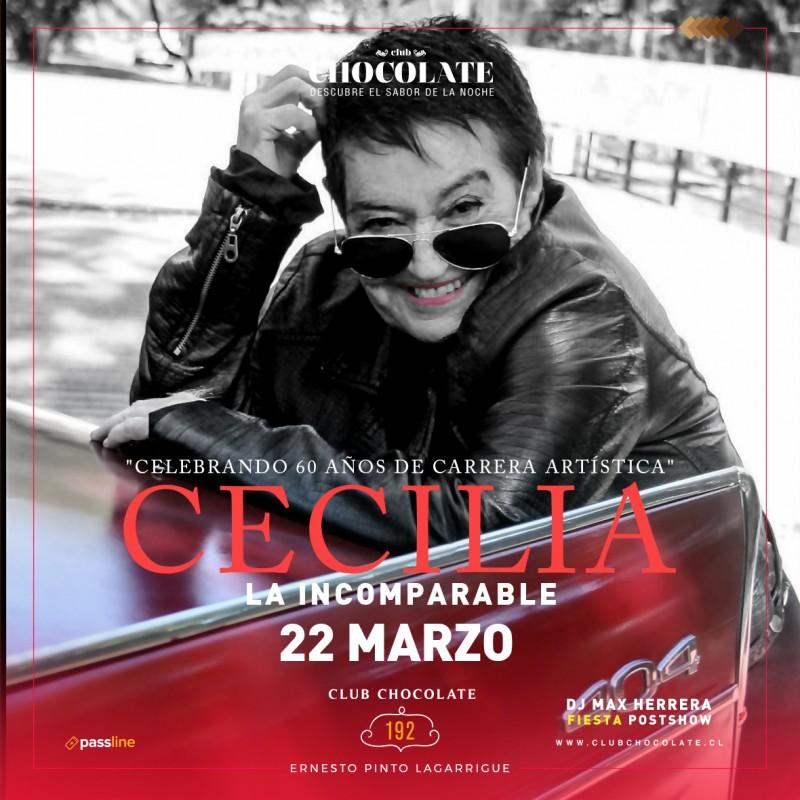 CECILIA - VIERNES 22 DE MARZO - CLUB CHOCOLATE