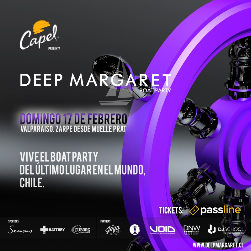 Deep Margaret Boat Party 17 de Febrero