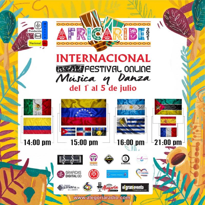 Gala Inaugural Festival Internacional Online de Música y Danza Africaribe  2021 - Passline