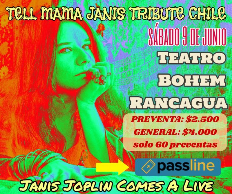 Janis Joplin Comes A Live -Teatro Bohem Rancagua