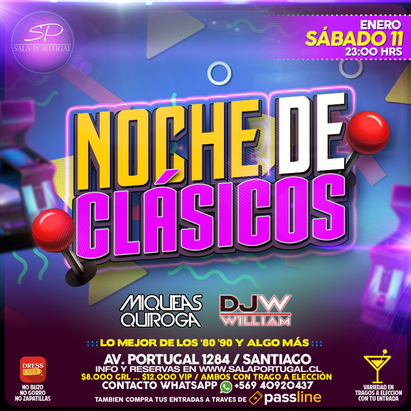 Noche De Clasicos Passline