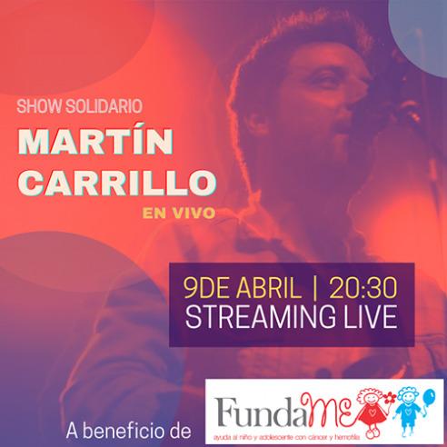 Martín Carrillo junto a Fundación FundaMe